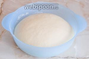 За это время тесто очень быстро и хорошо поднимется.