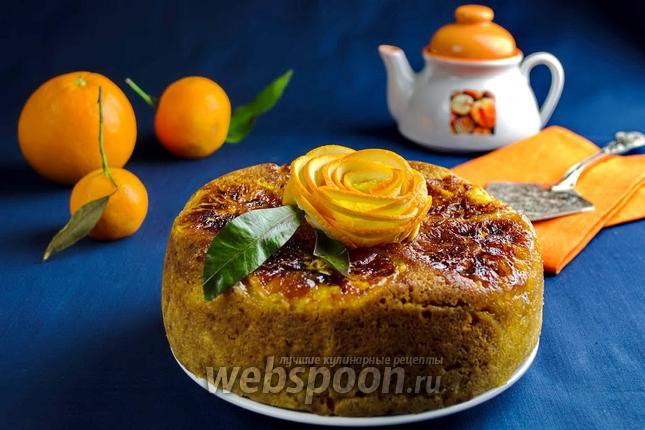 Фото Кекс с карамельными апельсинами в мультиварке