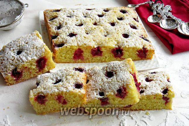 Фото Вишнёво-миндальный пирог