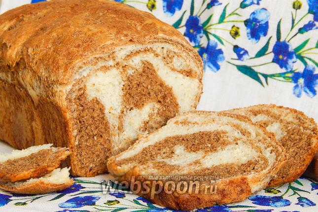 Фото Мраморный пшенично-ржаной хлеб