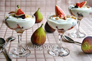 Десерт «инжир с йогуртом»