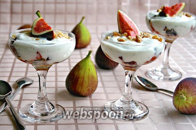 Фото Десерт «инжир с йогуртом»