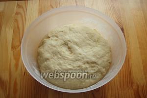 Из-за того, что много сахара, то тесто подымается долго, но подымается.