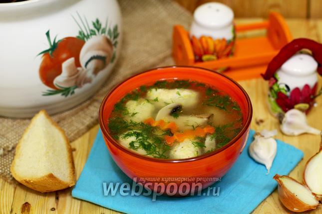 Фото Рисовый суп с куриными кнелями