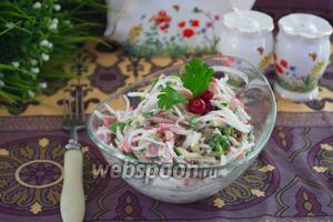 Сочный салат с редькой и бужениной