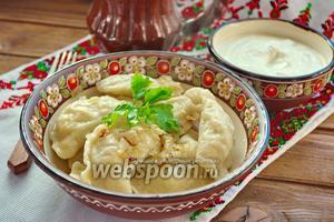 Украинские вареники с капустой и яйцом