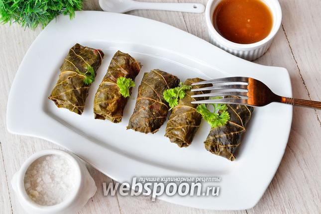 Фото Долма из куриного мяса с гречкой