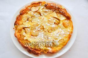 Переложить готовый блинчик на блюдо, посыпать сахарной пудрой и наслаждаться!!! Приятного аппетита!