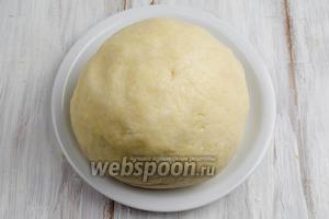 Тесто получается гладким, не липнет к рукам. Поставить тесто в холодильник на 1 час.