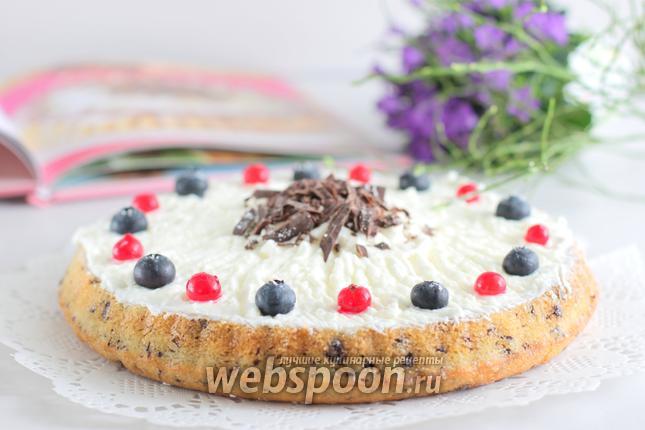 Фото Творожный кухен с ягодами