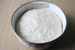 Приблизительно через час, тесто увеличится в объёме в несколько раз. Тесто готово.