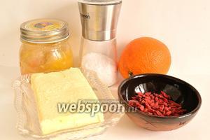 Приготовим все продукты по списку. Масло лучше заранее вынуть из холодильника.
