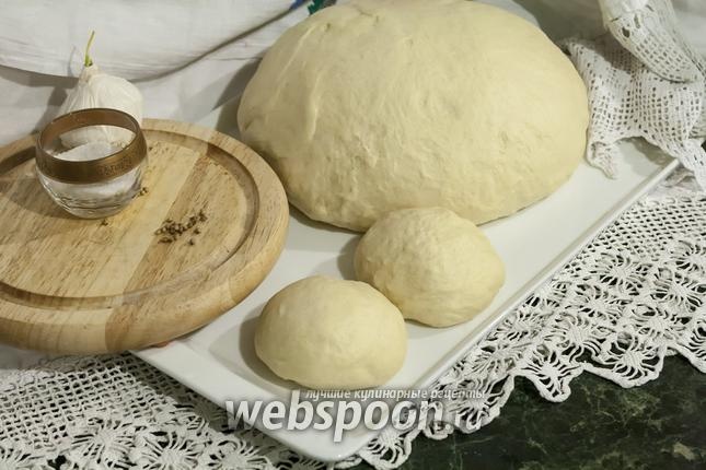 Фото Дрожжевое тесто на гусиных яйцах