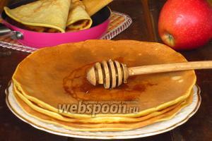 Блинчики на яблочном соке