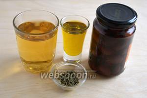 Таrже понадобятся: сухое белое вино, оливковое масло, оливки, сушёные травы — розмарин и тимьян.