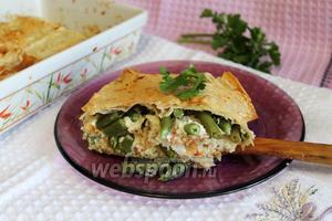 Рыбный пирог из лаваша со стручковой фасолью и кус-кусом