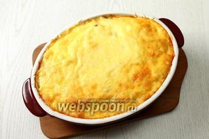 Наша картофельная запеканка с мясом и грибами готова. Приятного аппетита!