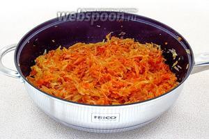 Овощи перемешать и потушить в течение 5 минут.