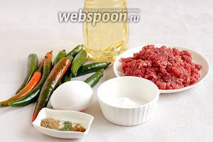 Для приготовления этого блюда возьмём все продукты по списку.