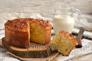 Ананасовый пирог с кокосовой шапочкой