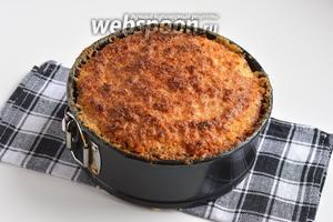 Готовить при 180ºC на протяжении 40-45 минут. Перед подачей пирог хорошо охладить.
