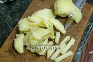 Теперь повторяем форму нарезки с картофелем.