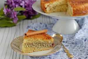 Коричный пирог с корочкой