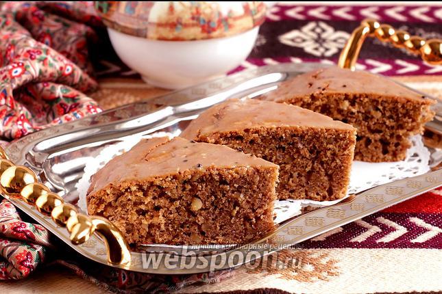 Фото Персидский кофейно-ореховый пирог