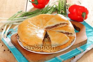 Хачапури с мясом в духовке