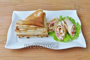 Подавайте на листе салата с маслом или сметаной по желанию.