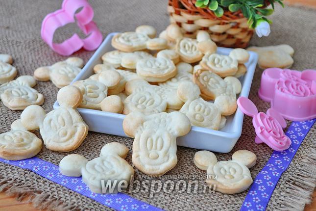 Фото Постное песочное печенье на растительных сливках