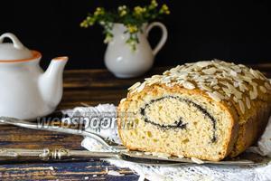 Творожно-яблочный кекс с маком