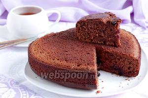 Творожно-шоколадный бисквит со смородиной