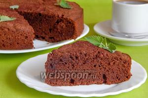 Гречневый пирог с шоколадом и коньяком