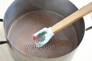 Затем остудите смесь до 40-50°С. Добавьте желатин и растворите его. Я использовала желатин не требующий замачивания.