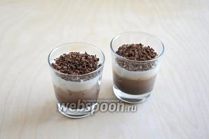 При подаче посыпьте желе стружкой горького шоколада. Можно подать с рассыпчатым овсяным печеньем или вафлями! Приятного аппетита!