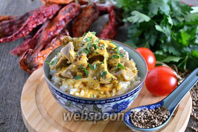 Фото Куриные желудочки по-тайски
