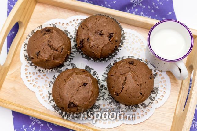 Фото Шоколадные кексы с шоколадными каплями