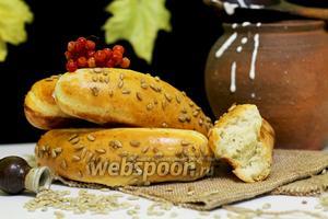 Ароматные багеты с семечками в хлебопечке