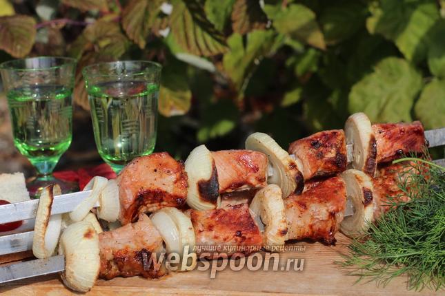 Рецепт Шашлык из свинины в винном маринаде