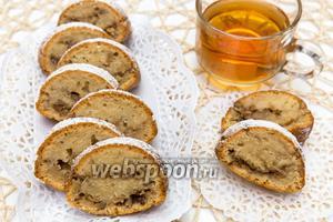 Кекс на яблочном пюре с орехами
