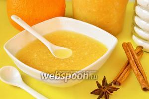 Живое варенье с грушей, апельсинами и корицей