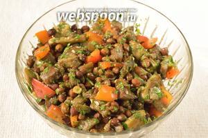 Вуаля! Салат готов. Bon appetit!