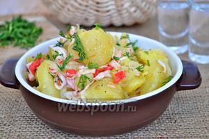 Картофель по-камчатски с крабовым мясом