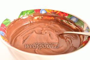 Всё хорошенько перемешать. Можно немного взбить. Шоколадный крем готов. Можно убрать его на время в холодильник.