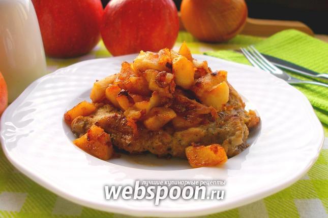Фото Свинина с яблоками, луком и имбирём