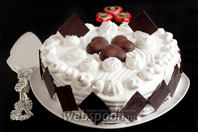 Фото Торт на творожно-шоколадном бисквите