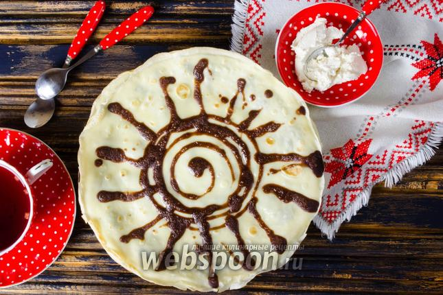 Фото Блинчики на сливках с какао