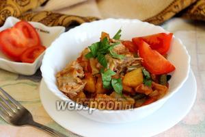 Рагу овощное со стручковой фасолью