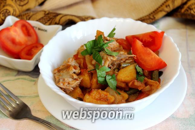 Фото Рагу овощное со стручковой фасолью
